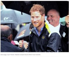 Prince Harry meeting the crowds on a soggy day in Sydney New South Wales Australia. June 2017