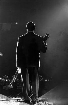 American jazz trumpeter and distinctive vocalist, Louis Armstrong