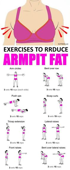 Effective Exercises to Reduce Armpit Fat.. #fitnesshealth