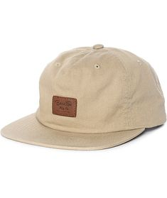 78961af098be4 Brixton Grade II Unstructured Khaki Snapback Hat