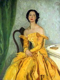 Portrait of the painter Simone Gentile by Serge Ivanoff