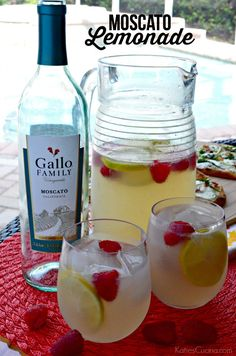 Moscato Lemonade using @GalloFamily Moscato! #ad #MoscatoDay