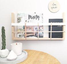 book shelf, wall basket, shelf, leather | The Timba Trend