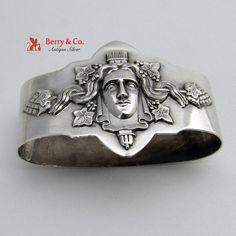 Medallion Napkin Ring Coin Silver 1860