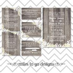 DIY Printable Rustic Wedding Invitation Suite: $60 via Etsy