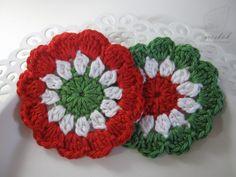 Crocheted hungarian cockade - kokárda (meskok.design) Crochet Designs, My Design, Blanket, Flowers, Christmas, Jewelry, Shapes, Xmas, Jewlery