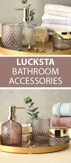 Lucksta bathroom accessories can add instant glam to your bathroom interior design with their crystal look and bright colours theyre sure to add a
