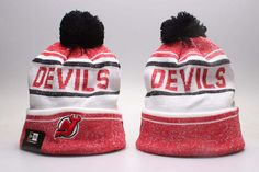 reputable site d1fc0 30cfe Knit Beanie Hat, Beanies, New Jersey Devils, Knitted Hats, Pom Pom Hat
