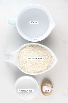 Fluffy Jasmine Rice Ingredients Perfect Jasmine Rice, Perfect White Rice, Cooking Jasmine Rice, Keto Broccoli Cheese Soup, Phytic Acid, Rice Ingredients, Cup Of Rice, Leftover Rice, How To Cook Rice
