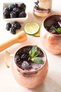 Blackberry Moscow Mule from @cakenknife