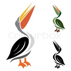 Vector image of an stork Bird Stencil, Stencil Painting, Bird Silhouette, Silhouette Cameo Projects, Watercolor Paintings For Beginners, Background Design Vector, Quilling Patterns, Bird Pictures, Stained Glass Patterns