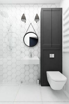 faience salle de bain noir et blanc, modeles salles de bain , comment choisir le design de la salle de bain