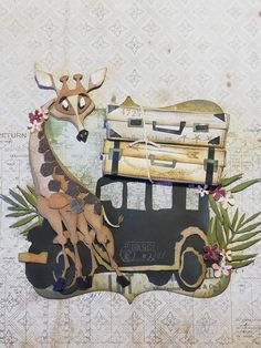 Giraffe, Elephant, Stampers Anonymous, Scrapbooking, Animal Cards, Tim Holtz, Moose Art, Paper Crafts, Christmas Ornaments