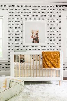 best Ideas for baby wallpaper pattern cribs Baby Bedroom, Baby Room Decor, Nursery Room, Boy Room, Girl Nursery, Kids Bedroom, Nursery Decor, Bedroom Ideas, Master Bedrooms