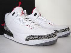 833a7ca39d8 Air JORDAN 3 Retro 88 CEMENT III OG NEW sz 12 White Black-Red Sneakers