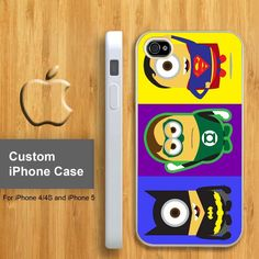 Despicable Minion Serial Super Hero - Customized iPhone. Aubz!  Your world and my world all brought into one!  I love it!