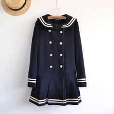 navy sailor coat ¥ 79.00  miann.taobao http://item.taobao.com/item.htm?spm=a230r.1.14.57.bFonoh&id=35523707153
