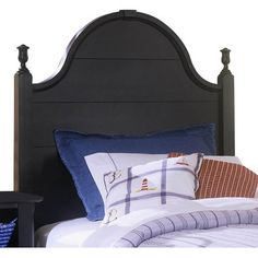 Darby Home Co Arrowhead Panel Headboard Size: Full, Finish: Snow White