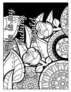 84 Best Adult Swear Words Coloring Pages Images On Pinterest