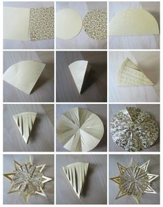 Bastelideen Folding stars - a simple but very effective Christmas decoration Christmas Crafts, Christmas Decorations, Xmas, Christmas Ornaments, Christmas Ideas, Paper Ornaments, Free Day, How To Eat Less, Joy And Happiness