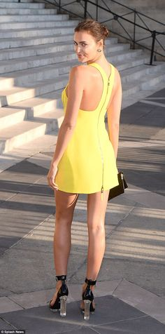 Irina Shayk - Paris Haute Couture Fashion Week.  (5 July 2015)
