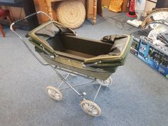 Double Prams, Prams And Pushchairs, Baby Dolls, Baby Strollers, Retro Vintage, Silver, Ebay, Collection, Baby Prams