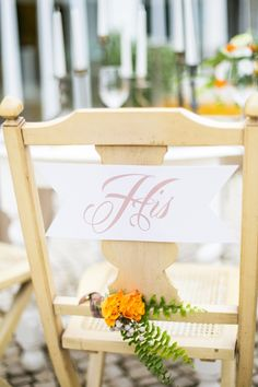 grooms reception chair