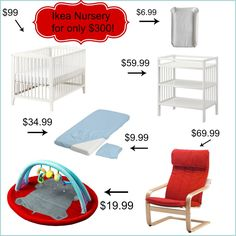I could find some of these items for less but its good to know. Budget Nursery from Ikea: $300 for Everything