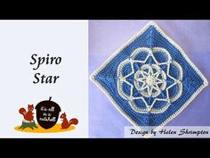 Spiro Star - Crochet Square - YouTube