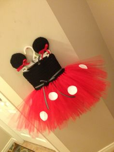 Minnie Mouse tutu dress with matching Minnie Mouse ear hair clips Ear Hair, Tutu Dresses, Hair Clips, Minnie Mouse, Crochet Necklace, Tulle, Skirts, Fashion, Hairpin Legs
