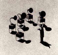 Matt Duffin. My Inner Voices. Encaustic wax.