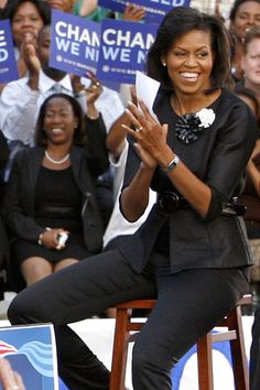 Michelle Obama Fashion, Michelle And Barack Obama, Michelle Obama Photos, Ourfit, Isabel Toledo, American First Ladies, Barrack Obama, First Black President, Black Presidents