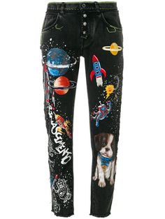 Dolce & Gabbana boyfriend planets printed jeans PHP) ❤ liked on Polyvo. Metallic Jeans, Faded Black Jeans, Dolce And Gabbana Jeans, Dolce & Gabbana, Painted Jeans, Painted Clothes, Multi Coloured Jeans, Flower Embroidered Jeans, Black Boyfriend Jeans