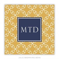 """Boatman Geller Coaster - Cross Bit - these monogrammed """"Bit"""" coasters are so neat at Paperfancy.com $27 #horse"""