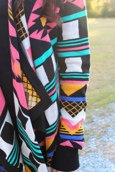 Multi Color Aztec Cardigan - Lavish Boutique