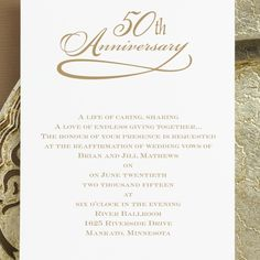Free 50th Wedding Anniversary Invitations Templates Mom