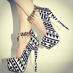 Black&white shoes Glamour ❤