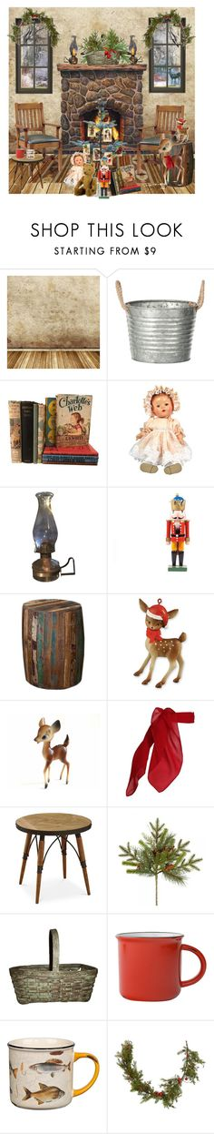"""""""Christmas Cottage"""" by gigisstyle ❤ liked on Polyvore featuring interior, interiors, interior design, home, home decor, interior decorating, Monique Lhuillier, WALL, Wildon Home and Retrò"""