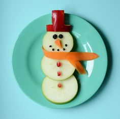 Fun food: snowman