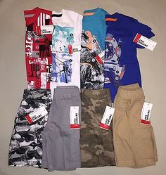 BOYS 2 2T EPIC THREADS BY MACYS SHIRT SHORTS OUTFIT SET OF 8 NWT