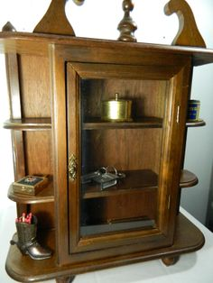 Elegant Small Curio Cabinet with Glass Doors