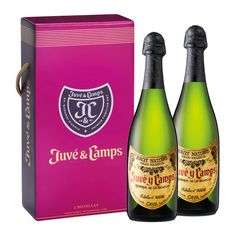 2  x  Cava Juvé & Camps Reserva de la Familia Brut Nature Trailers, Champagne, Museum, Bottle, Drinks, Painting, Liqueurs, Elegance Fashion, Drinking