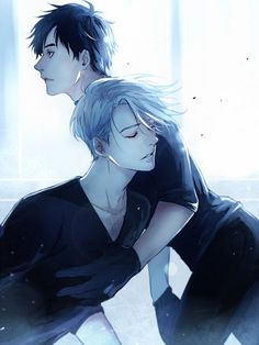 Yuri and Viktor (Yuri!!! On Ice) credit: https://mobile.twitter.com/sayuuhiro