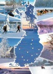 Suomi-karttakortti talviliikuntaa | Perromania - pieni postikorttikauppa