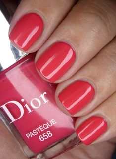Love Nails, Red Nails, How To Do Nails, Pretty Nails, Hair And Nails, Dior Nail Polish, Nail Polish Colors, Pedicure Nails, Manicure