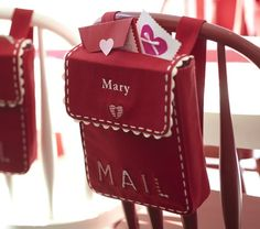 """cuter bag for the valentine love notes idea: """"Each day starting February 1st, and running through February 14th, I will leave a little love note in each of their buckets, writing something special about them, plus either a small treat or letting them know of a fun activity planned for that day."""""""