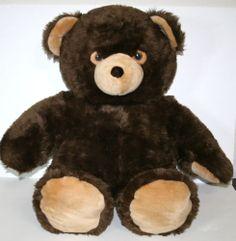 "IKEA Jumbo Nalle Teddy Bear Plush 28"" Brown Sweden Stich Embroidered Eyes Animal | eBay"
