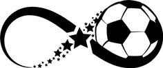"""""""Infinity Soccer Ball"""" wall decal sticker home decor infinity symbol sign"""