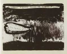 David Lynch, A lonely figure talks to himself , Lithograph, 2009 David Lynch, Show Me The Way, Indie Movies, International Artist, Artist At Work, Cinematography, Lonely, Illustration, Poster
