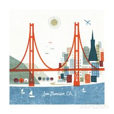 Colorful San Francisco Prints by Michael Mullan at AllPosters.com